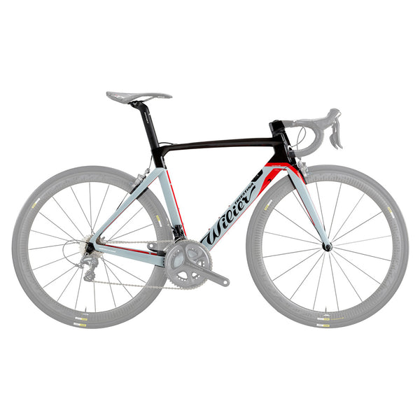Wilier Cento 10 Air Frameset - Gloss Grey/Red