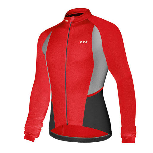 Campagnolo Womens Helyette Long Sleeve Jersey - Red