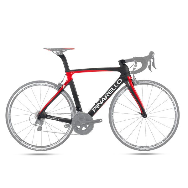 Pinarello Gan S T700 Carbon Fiber Frameset - Black / Red