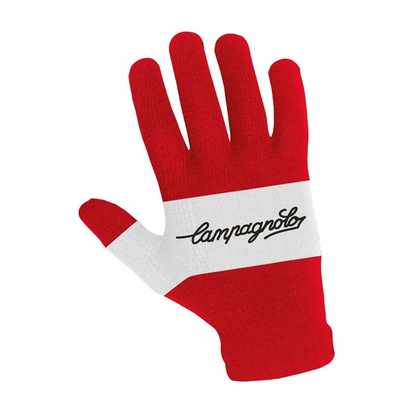 Campagnolo Retro Knit Glove - Red / White