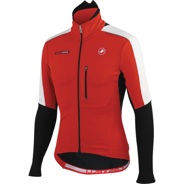 Castelli Mens Trasparente Due Cycling Jacket - Red Black