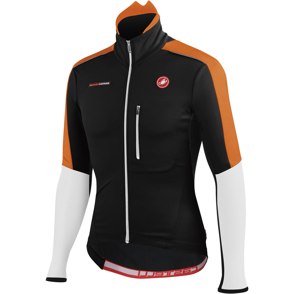 Castelli Mens Trasparente Due Cycling Jacket - Black Orange