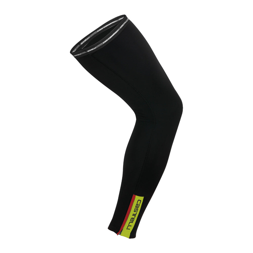 Castelli Thermoflex Leg Warmers - Black Fluro Yellow