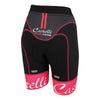 Castelli Womens Free Aero Shorts - Black Raspberry