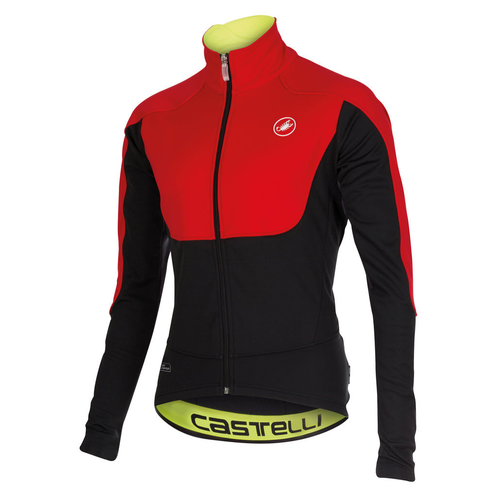 Castelli Mens Passo Giau Jacket - Red