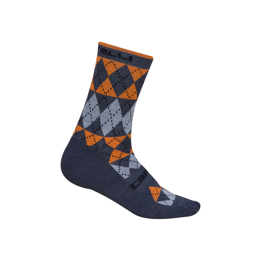 Castelli Mens Diverso Merino Socks - Orange