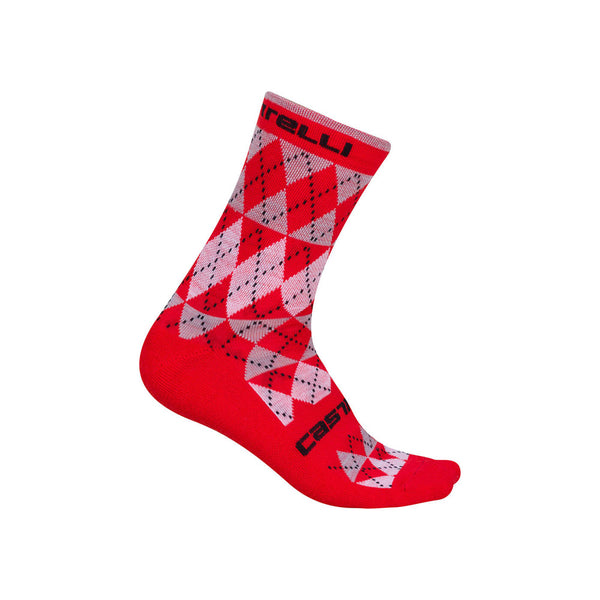 Castelli Mens Diverso Merino Socks - Red