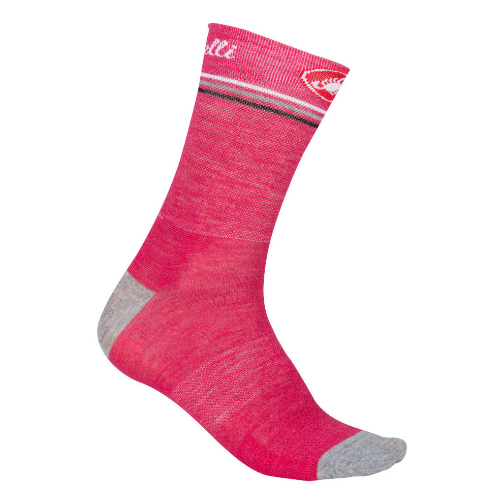 Castelli Womens Atelier Merino Socks - Raspberry Red