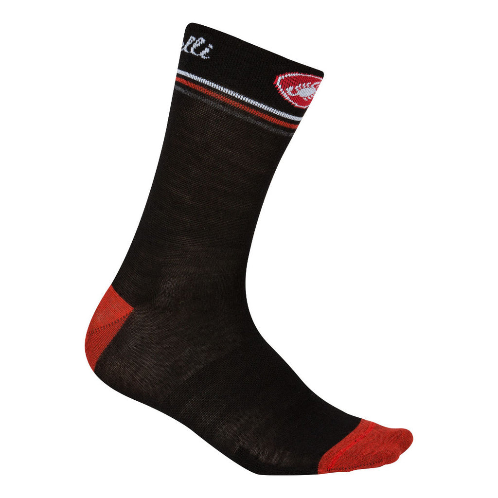 Castelli Womens Atelier Merino Socks - Black / Red
