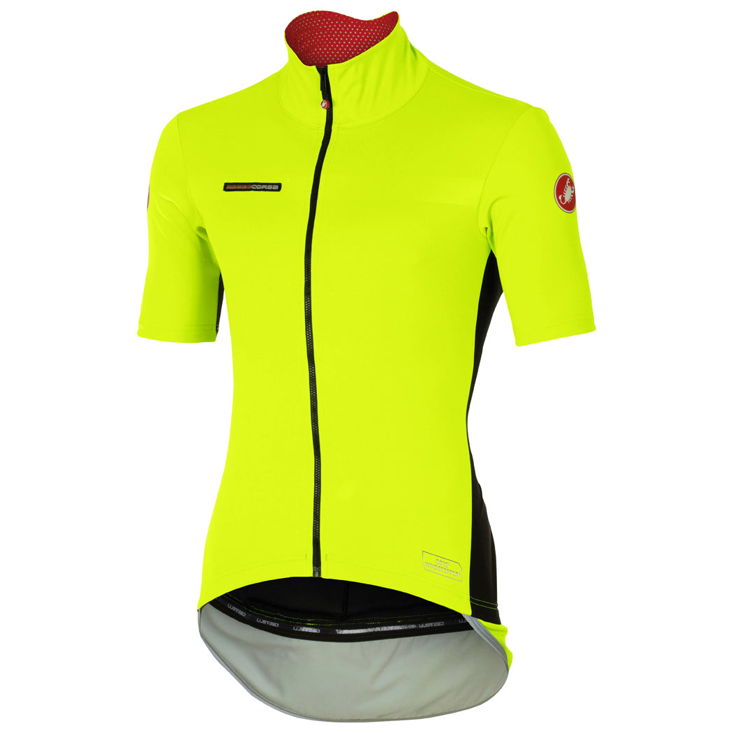 b2ed01a47 Details about Castelli Mens Perfetto Light Short Sleeve Cycling Jersey -  Fluro Yellow