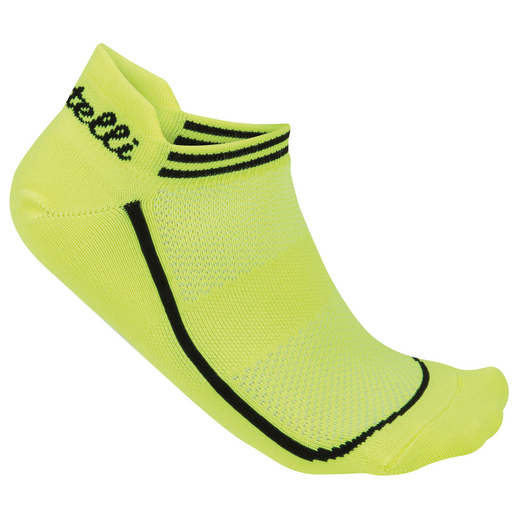 Castelli Womens Invisible Cycling Socks - Fluro Yellow