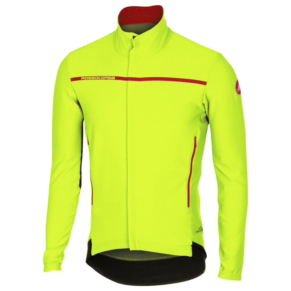Castelli Mens Perfetto Long Sleeve Jacket - Fluro Yellow