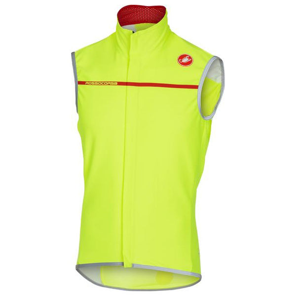 Castelli Mens Perfetto Cycling Vest - Fluro Yellow