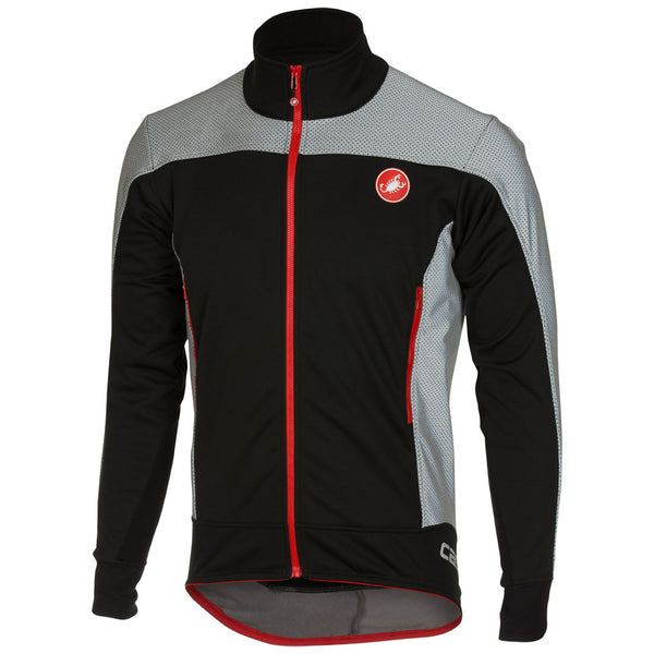Castelli Mens Mortirolo Reflex Jacket - Black