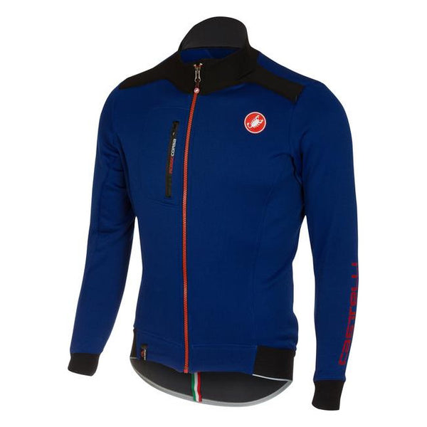 Castelli Mens Potenza Fleece Jersey - Surf Blue