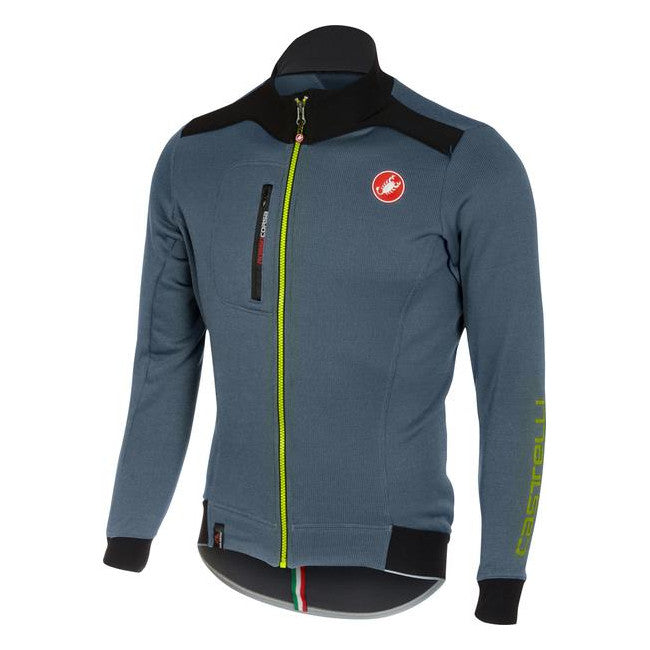 Castelli Mens Potenza Fleece Jersey - Mirage