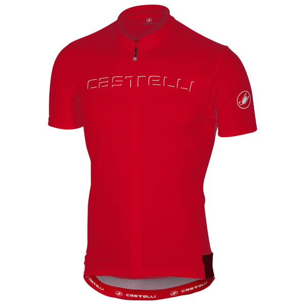 Castelli Mens Prologo V Jersey - Red