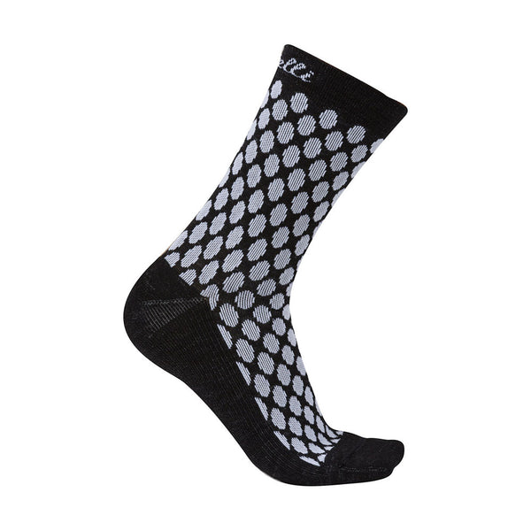 Castelli Womens Sfida Merino Socks - Black / White