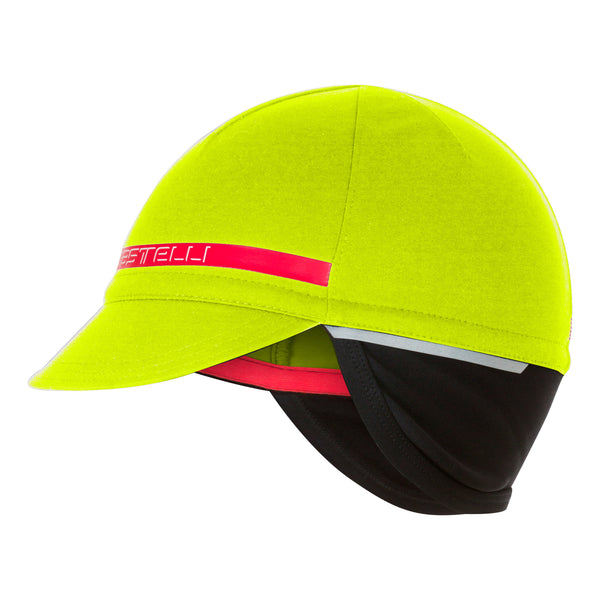 Castelli Difesa 2 Gore Windstopper Winter Cycling Cap - Fluro Yellow
