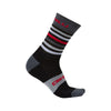 Castelli Mens Gregge 15cm Merino Cycling Socks - Black/Red