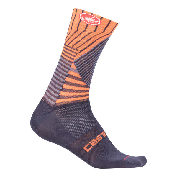 Castelli Mens Pro Mesh 15 Socks - Orange
