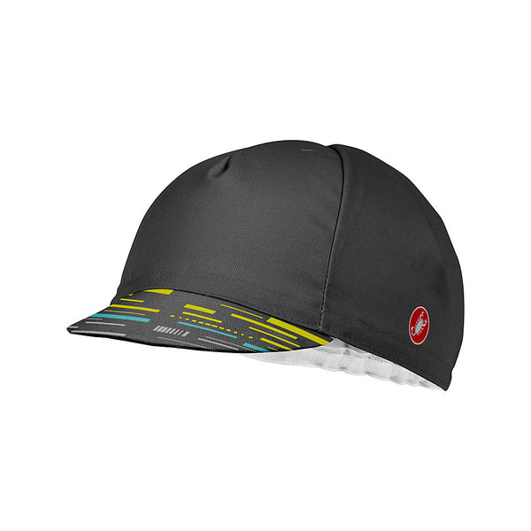 Castelli TR Cotton Cycling Cap - Grey / Yellow