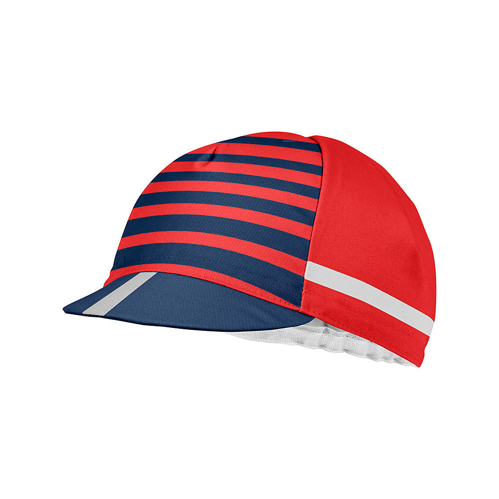 Castelli Free Kit Cotton Cycling Cap - Red / Blue