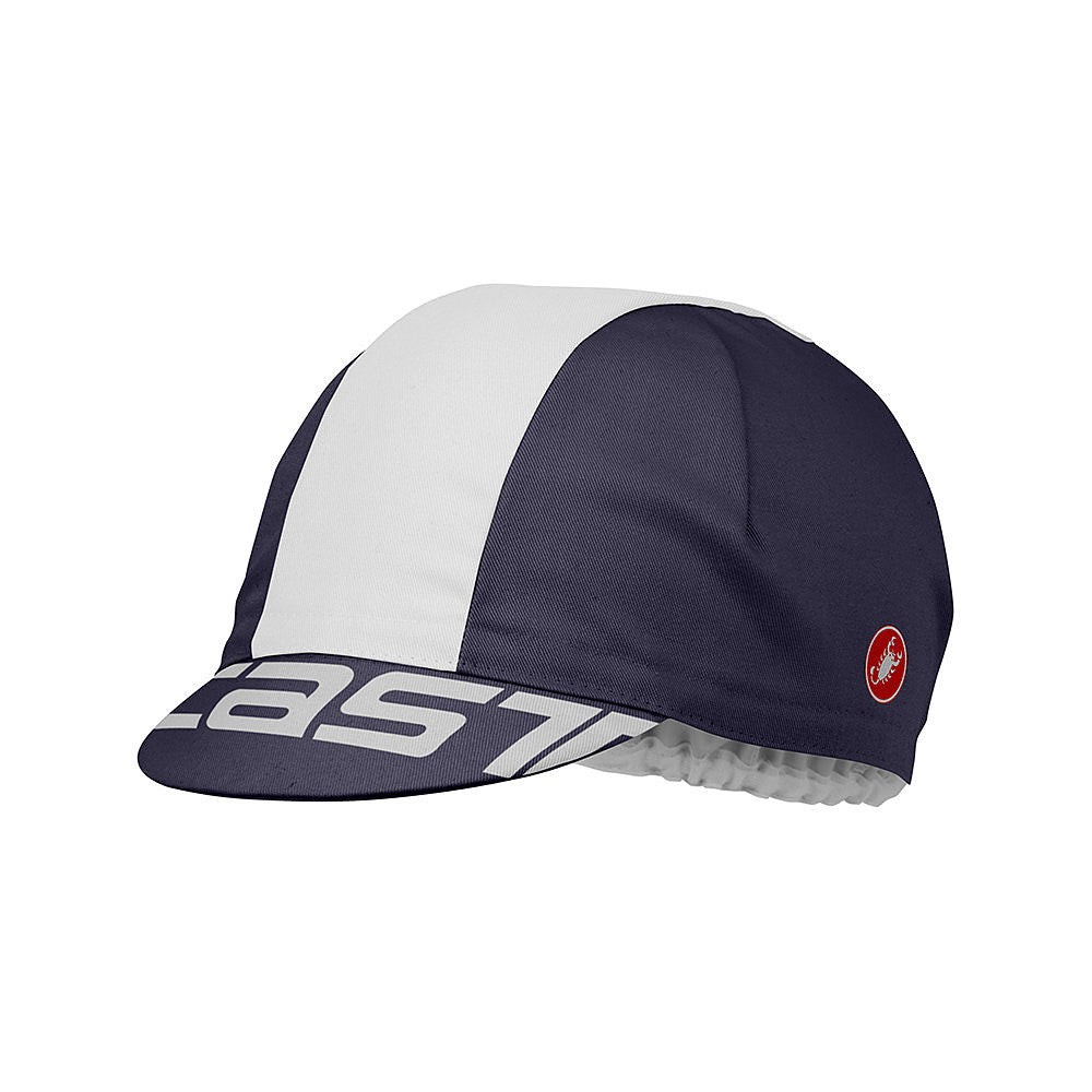 Castelli A Bloc Cotton Cycling Cap - Dark Steel Blue