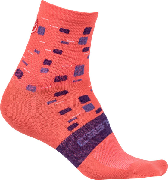 Castelli Womens Climbers Cycling Socks - Salmon Pink