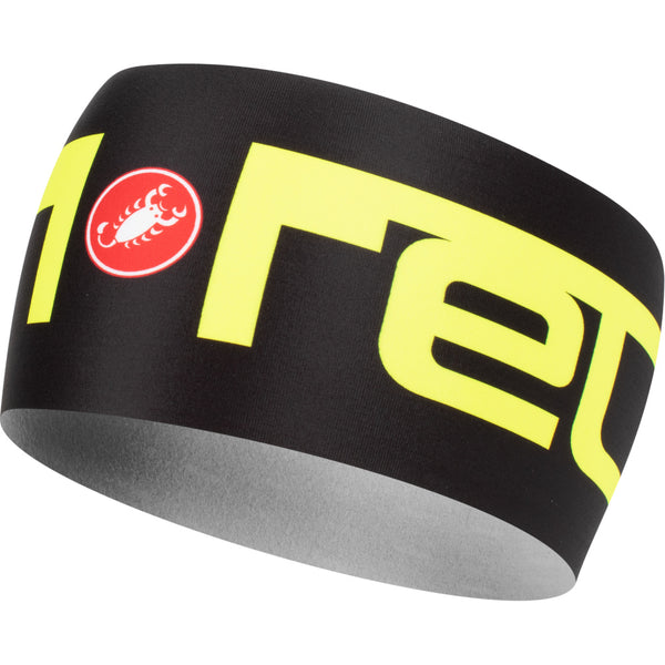 Castelli Viva 2 Thermo Headband - Black / Fluro