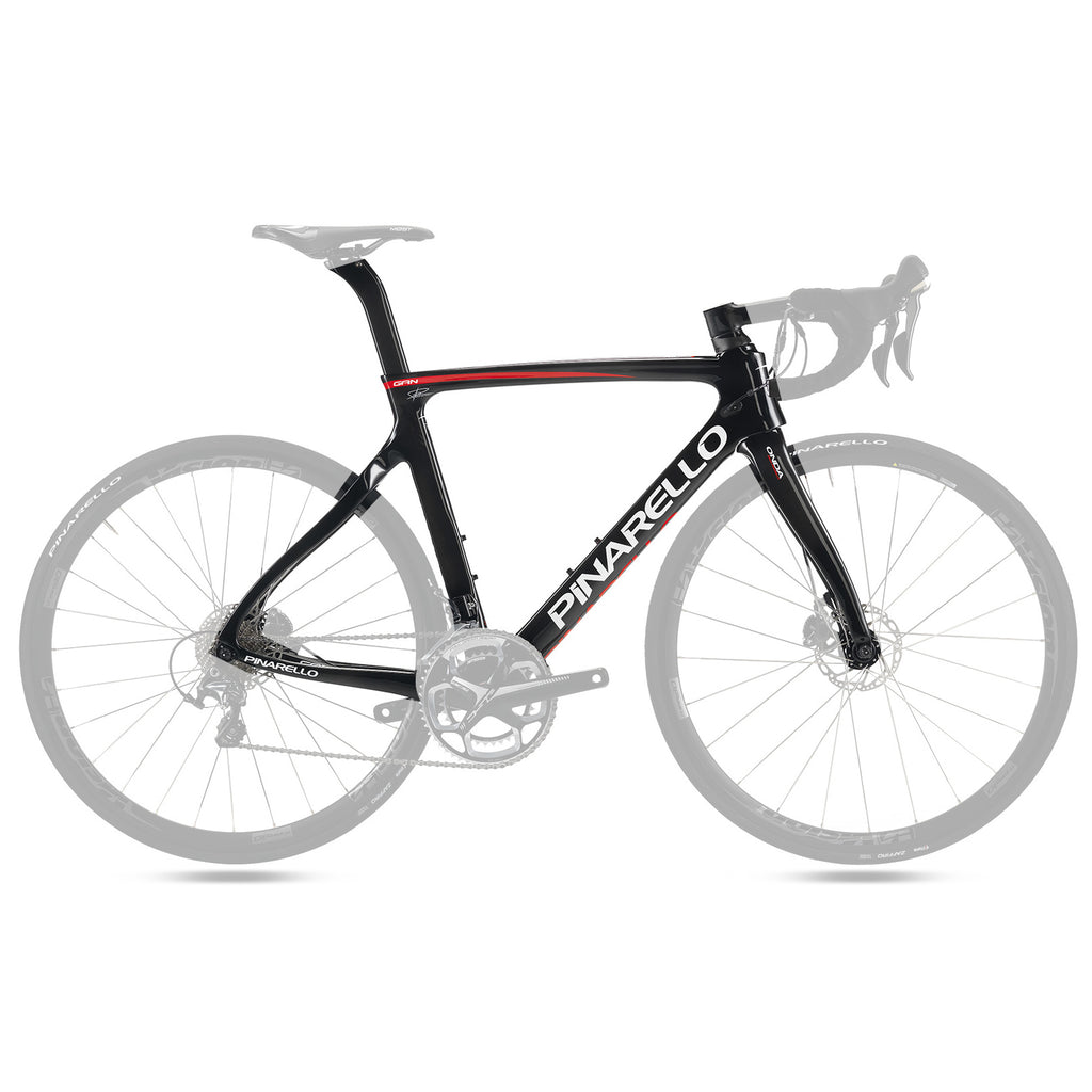 Pinarello Gan Disc Carbon Fiber Frameset - Carbon Red