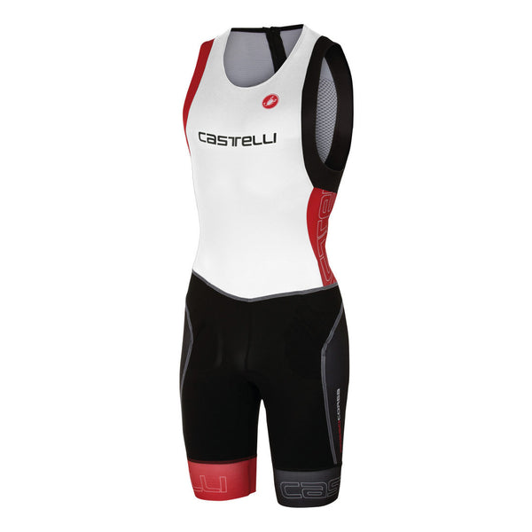 Castelli Mens Free Tri ITU Suit - White/Red