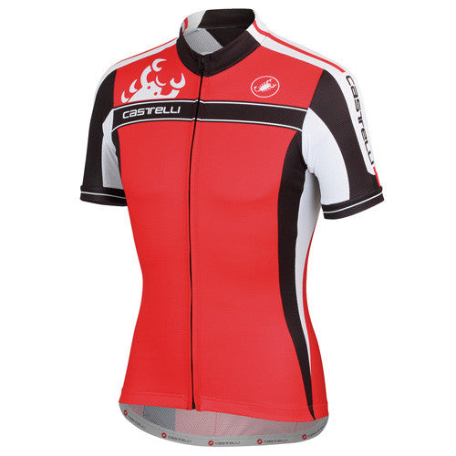 Castelli Mens Authentica Jersey - Red