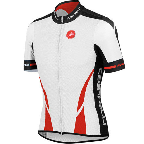 Castelli Mens Climbers Jersey - White/Red