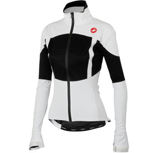 Castelli Womens Confronto Waterproof Shell Jacket - White