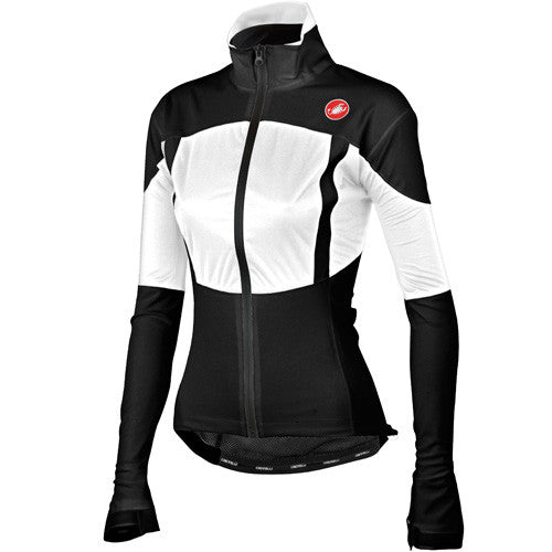 Castelli Womens Confronto Waterproof Shell Jacket - Black