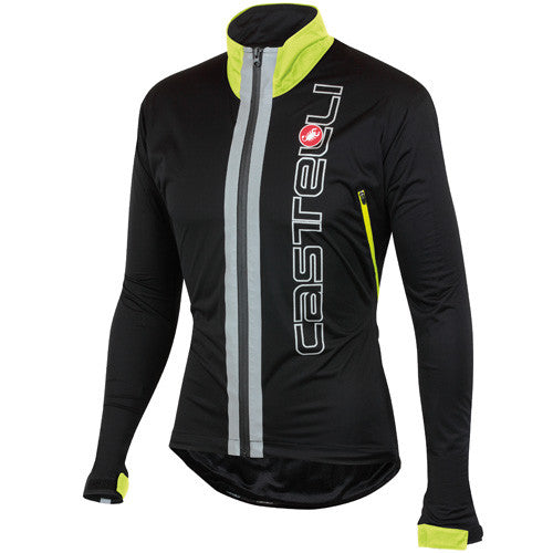 Castelli Mens Confronto Jacket - Black Fluro Yellow