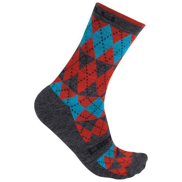 Castelli Mens Diverso Merino Socks - Red / Blue