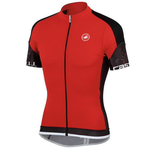 Castelli Mens Entrata Jersey - Red/Black