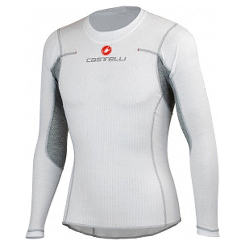 Castelli Mens Flanders Long Sleeve Winter Baselayer - White