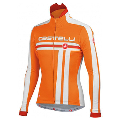 Castelli Mens Free Cycling Jacket - Orange