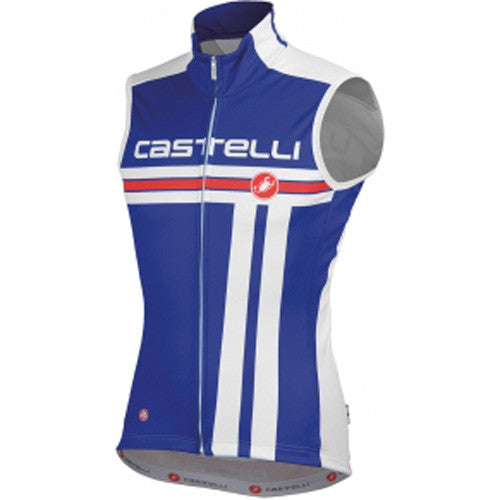 Castelli Mens Free Windstopper Vest - Blue