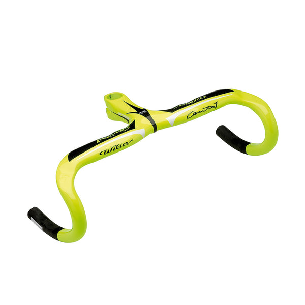 Wilier Cento1 Carbon Integrated Handlebar - Fluro Yellow