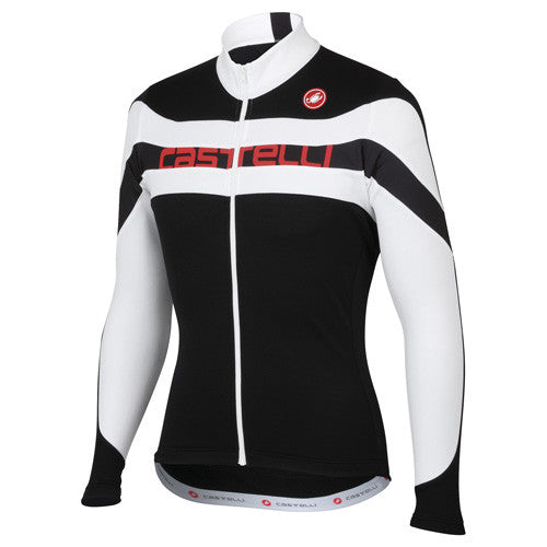 Castelli Mens Giro Long Sleeve Jersey - Black/White