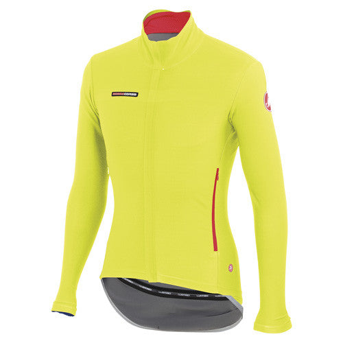 Castelli Mens Gabba 2 Long Sleeve Jacket - Fluro Yellow