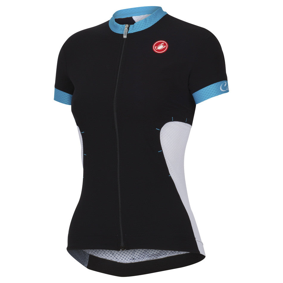 Castelli Womens Gustosa Jersey - Black Blue