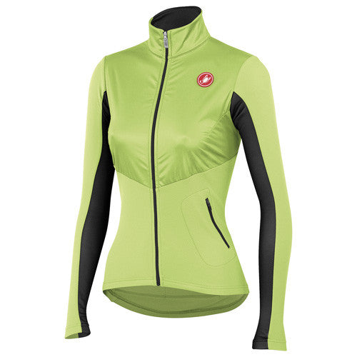 Castelli Womens Illumina Jersey - Lime Green