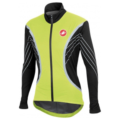 Castelli Mens Misto Jacket - Fluro Yellow Black
