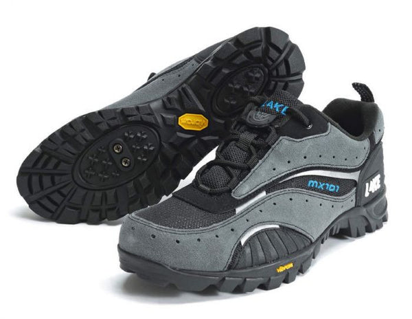 Lake Mens MX101 MTB Cycling Shoes - Black Grey