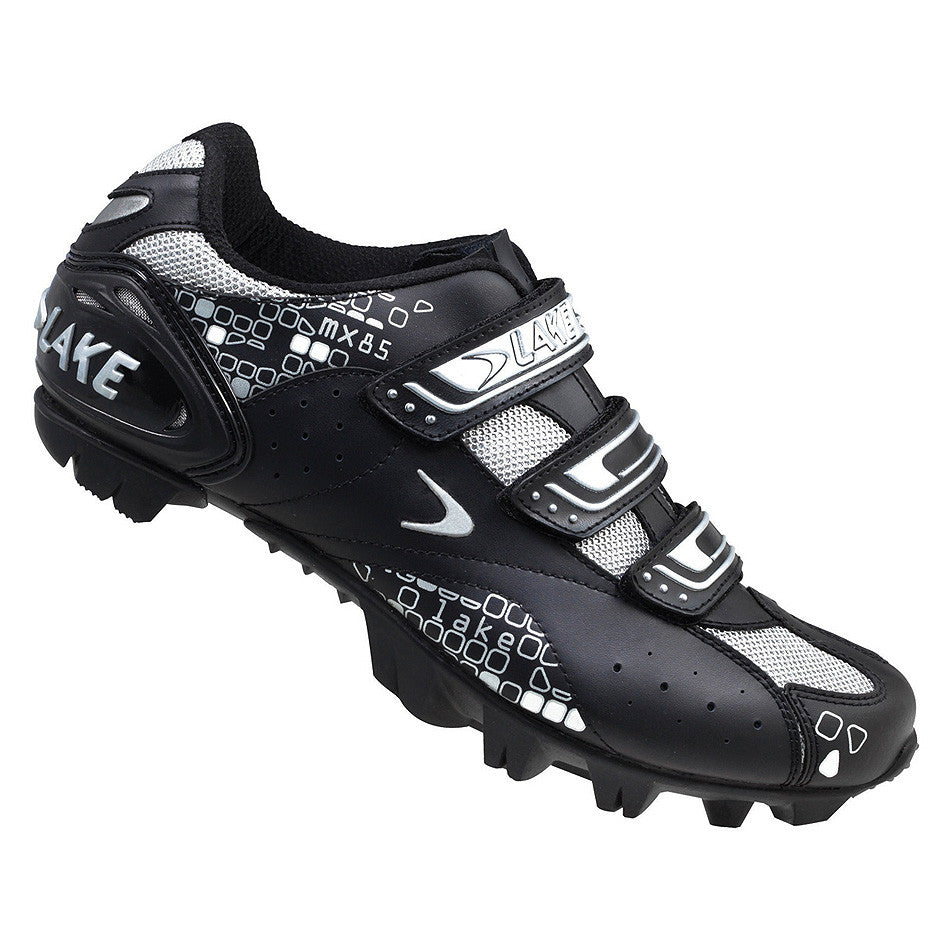 Lake Womens MX85 MTB Cycling Shoes - Black/Silver